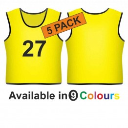 Training bib - Printed number front 5 Pack