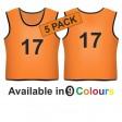 Training bib - Printed number front & back 5 Pack