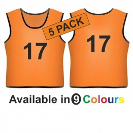 Training bib - Printed number front & back 5 Pack