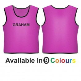 Training bib - printed name front