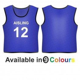 Training bib - printed name & number front