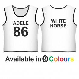 Training bib - printed name & number front & text back