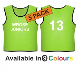 Training bib - Printed text front & number back 5 Pack