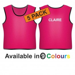 Training bib - printed name back 5 pack