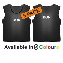 Training bib - printed name front & back 5 pack