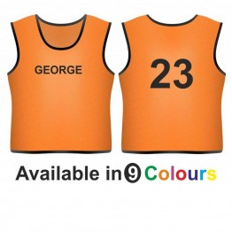 Training bib - printed name front & number back