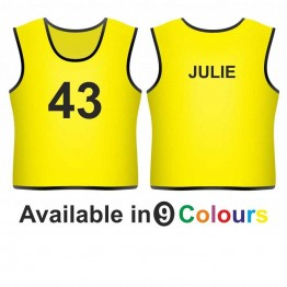 Training bib - printed number front & name back