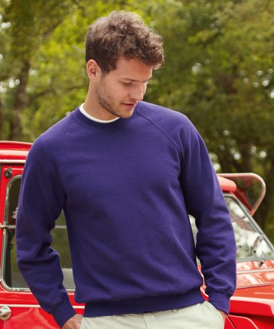 Fruit of the Loom Classic Raglan Sweatshirt Navy