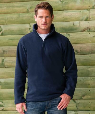 Russell Zip Neck Outdoor Fleece