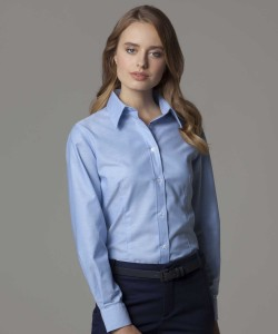 Kustom Kit Ladies Long Sleeve Workwear Oxford Shirt